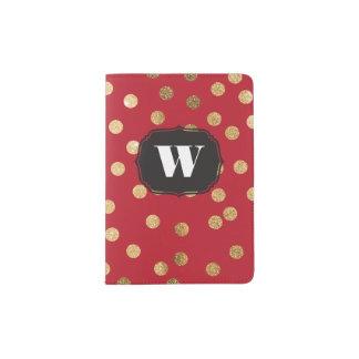 Red Custom Monogram Passport Cover Passport Holder