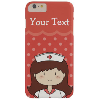 Red Custom Text Happy Nurse Case Barely There iPhone 6 Plus Case