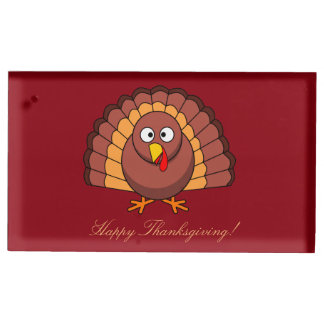 Red Custom Thanksgiving Place Card Holders Turkey