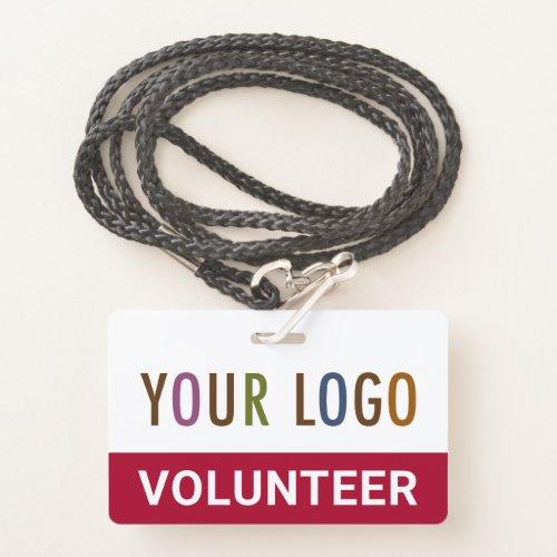 Red Custom Volunteer Badge Lanyard Event Team Logo