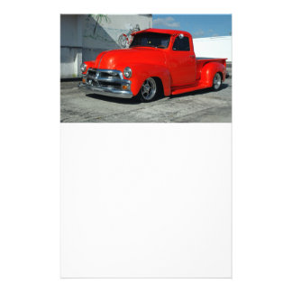 Red Customized Pickup Truck Flyer