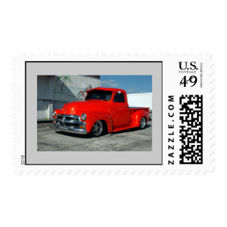 Red Customized Pickup Truck Postage