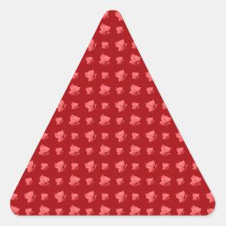 Red cute cat pattern stickers