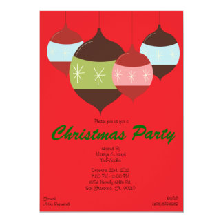 RED CUTE Christmas Party Hanging Ornaments Holiday Card