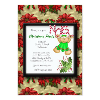 RED CUTE Christmas Party Noel Holiday Card