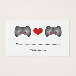 Red Cute Gamer Place Card