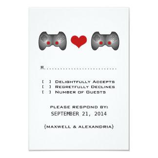Red Cute Gamer Response Card