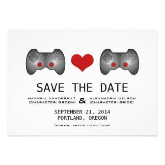 Red Cute Gamer Save the Date Invite