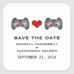 Red Cute Gamer Save the Date Stickers