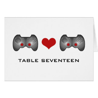 Red Cute Gamer Table Number Card