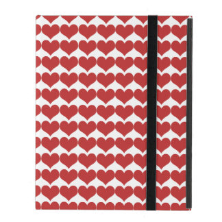 Red Cute Hearts Pattern Powis iPad Case