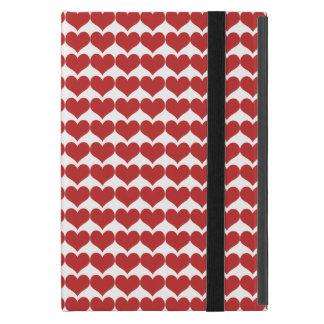 Red Cute Hearts Pattern Powis iPad Mini Case