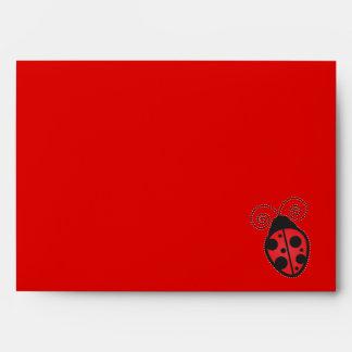 Red Cute Ladybug Envelope