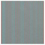[ Thumbnail: Red & Cyan Lined Pattern Fabric ]