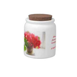 Red Cyclamen Flowers Candy Dishes