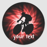 Red Cycling Classic Round Sticker