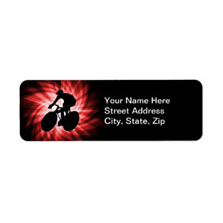 Red Cycling Return Address Label