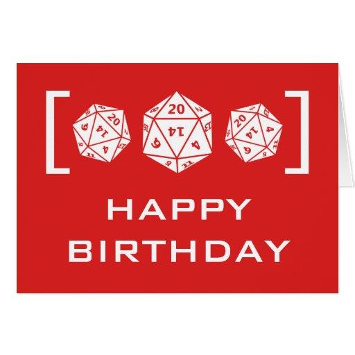 20 sided dice happy birthday meme