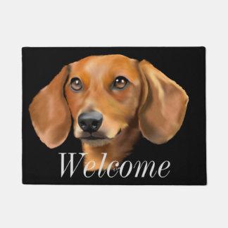 Red Dachshund Dog Doormat