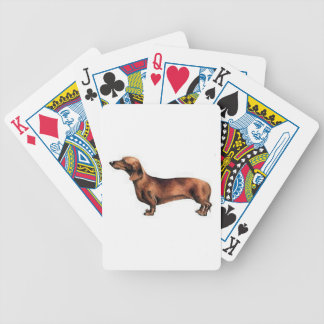 Red Dachshund Dog Playing Cards