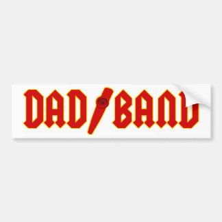 Red Dad Band Bumper Sticker