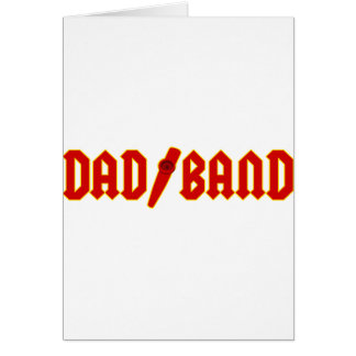 Red Dad Band Card