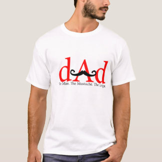 Red Dad Curly Mustache Shirt