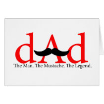 Red Dad Mustache