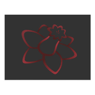 Red Daffodil Postcard
