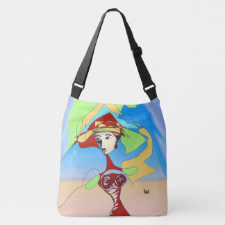 Red Dahlia and String Theory Lady tote bag