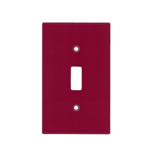 Red Dahlia Brick Maroon Burgundy 2017 Color Trend Light Switch Cover