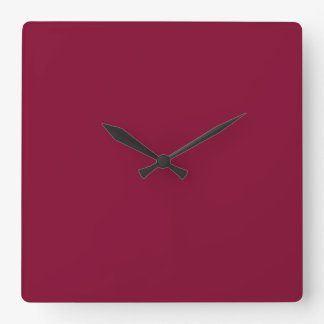 Red Dahlia Brick Maroon Burgundy 2015 Color Trend Square Wall Clock