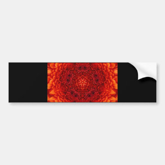 RED DAHLIA BUMPER STICKER