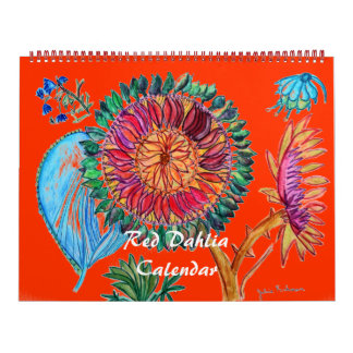 Red Dahlia Calendar