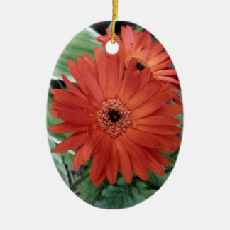 Red Dahlia Christmas Tree Ornament