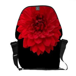 Red Dahlia Courier Bag