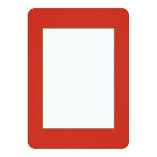 Red Dahlia in an English Country Garden Card