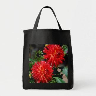 Red Dahlia Pair Tote Bag