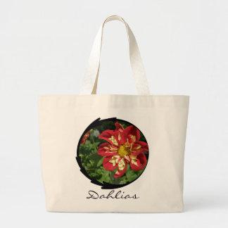 Red Dahlias Bags