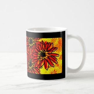 Red Daisies Coffee Mugs