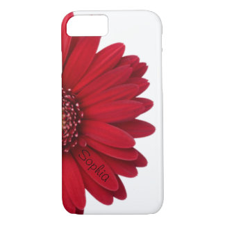 Red Daisy Custom Name iPhone 7 Case