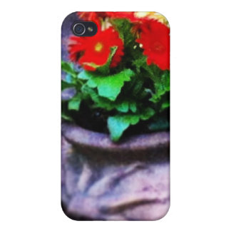 Red Daisy Delight iPhone 4 Case