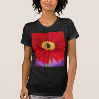 Red Daisy Flower Painting Art - Multi T-Shirt