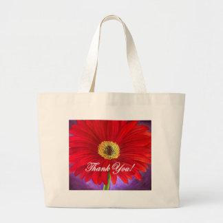 Red Daisy Flower Painting - Multi Jumbo Tote Bag