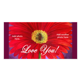 Red Daisy Flower Painting - Multi Card