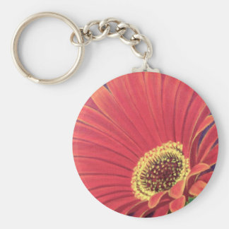 Red Daisy Flower Painting - Multi Key Chain