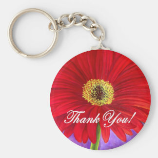 Red Daisy Flower Painting - Multi Key Chains