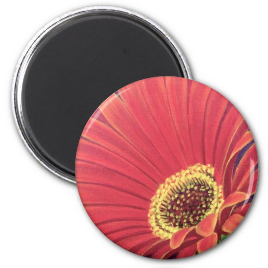Red Daisy Flower Painting - Multi Magnet