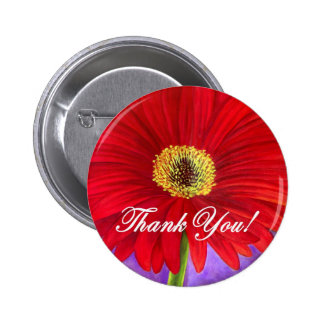 Red Daisy Flower Painting - Multi Pin