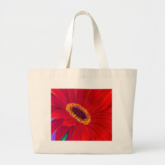 Red Daisy Gerber Flower Painting Art - Multi Large Tote Bag